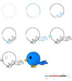 How To Draw Bird Vogeltje Tekenen Knutselen Met De Kinders