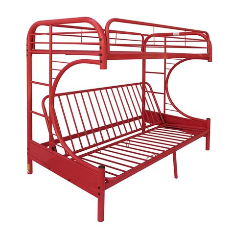 acme bunk beds acme furniture eclipse twin over red full metal kids bunk