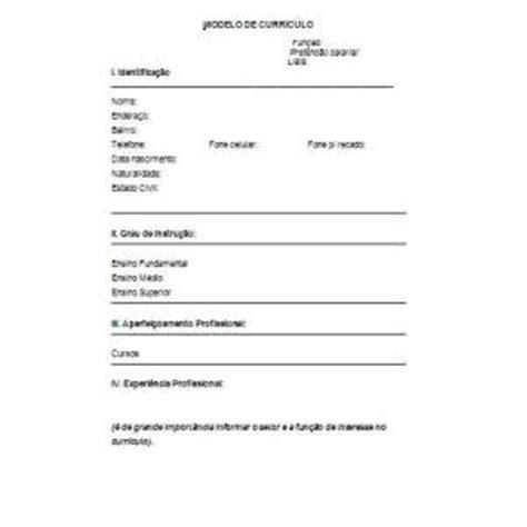 Modelo De Curriculum Vitae Basico Para Editar Curr 237 Culo Simples Dicas E Dica