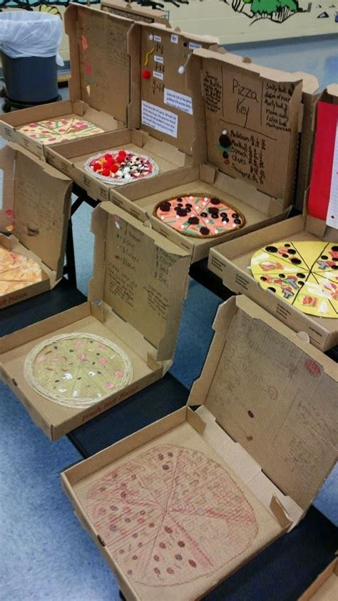 fourth grade crafts pizza fractions project what a end of unit craft