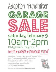 garage sale fundraiser flyer fundraising ideas