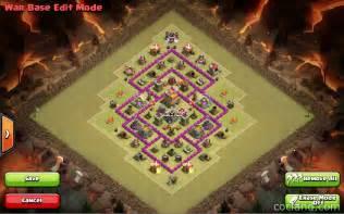 Clash of clans guide th7 war base 3 air defenses anti