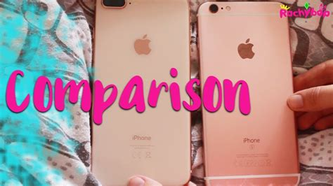 iphone 8 plus vs iphone 6s plus comparison gold gold