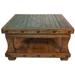 Rustic Square Coffee Table Square Coffee Table With Shelf Pine Rustic Western Lodge Cabin Ebay