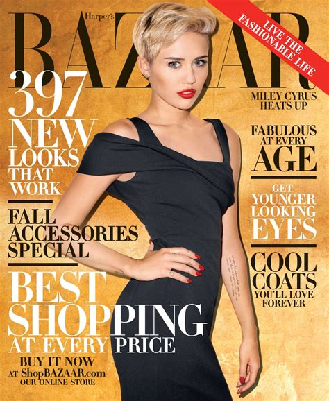 Is Cover Of Harpers Bazaar by Miley Cyrus Covers S Bazaar Vogue Is On