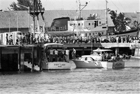 boat lift cuba mariel boat lift 1980 cuban culture pinterest