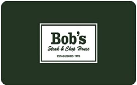 Chop House Gift Card - check bob s steak and chop house gift card balance online giftcardbalancechecks com