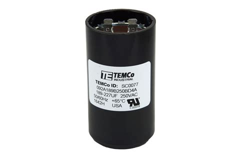 start capacitor mfd temco 189 227 mfd uf electric motor start capacitor 220 250v hvac 250 vac v volt ebay