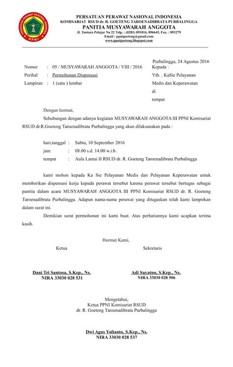 Contoh Surat Dispensasi Kuliah Suratmenyurat Net Bertemuco