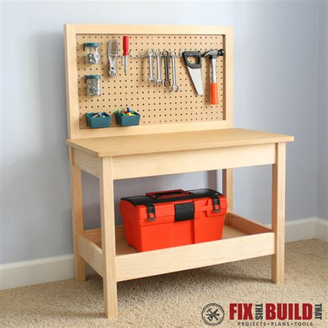 wooden work bench for children ana white kids workbench diy projects