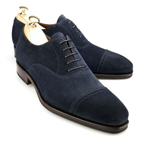 oxford suede shoes captoe oxford in navy suede