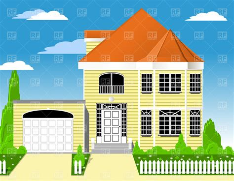 drawing of a house with garage house clipart nice house pencil and in color house