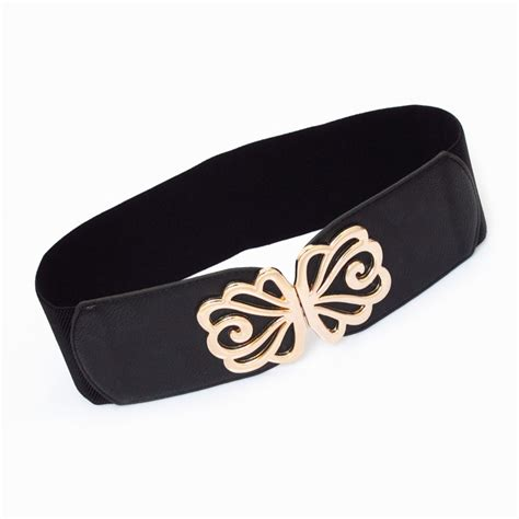 Repeat Trend Wide Belts by S Elastic Waist Belt Fashion Wide Cummerbund Buckle