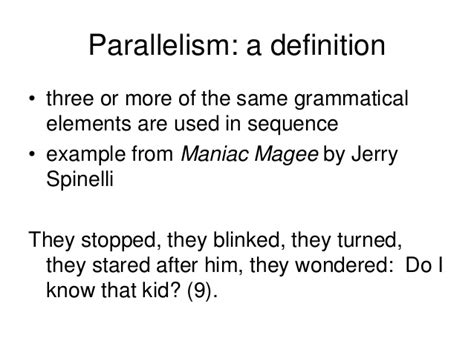 parallel structure rev