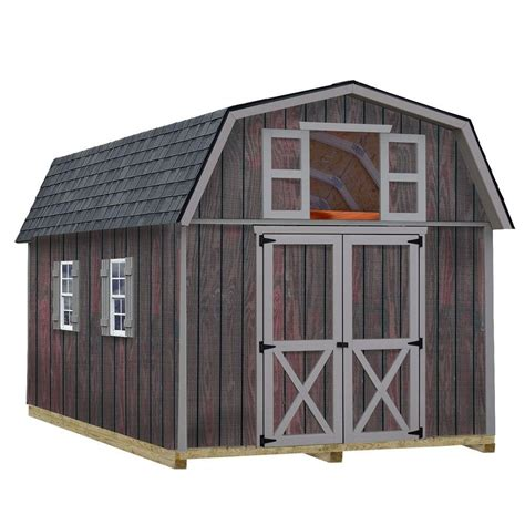 10 X 16 Storage Shed by Best Barns Cambridge 10 Ft X 16 Ft Wood Storage Shed Kit Cambridge 1016 The Home Depot