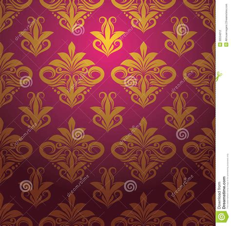 indonesian pattern free vector gold floral pattern ornament stock vector illustration