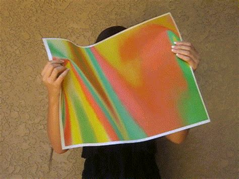 Color Changing Cloth Detox by 3d Lenticular Fabric Sheet Color Changing Orange Green Yellow