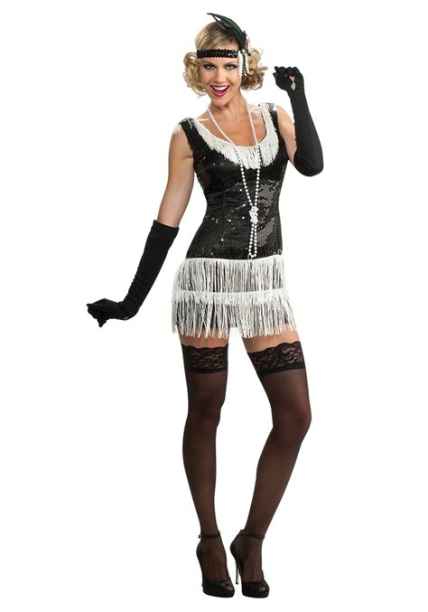 black and white photo creative costumes for black and white sequin flapper costume