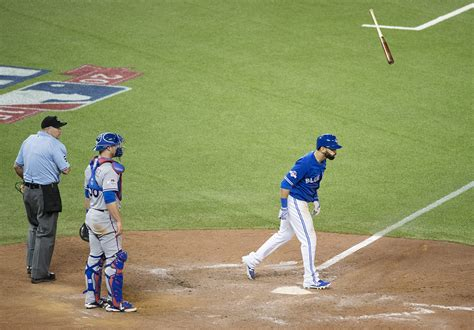 baseball bat flip swing jose bautista punctuated a roller coaster seventh inning