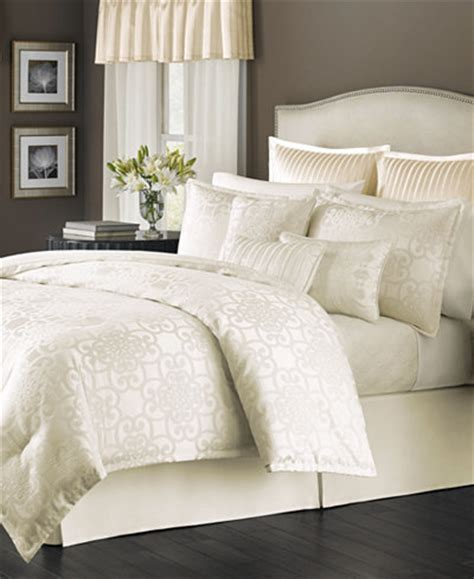 ivory comforter queen martha stewart collection savannah scroll ivory 22 pc