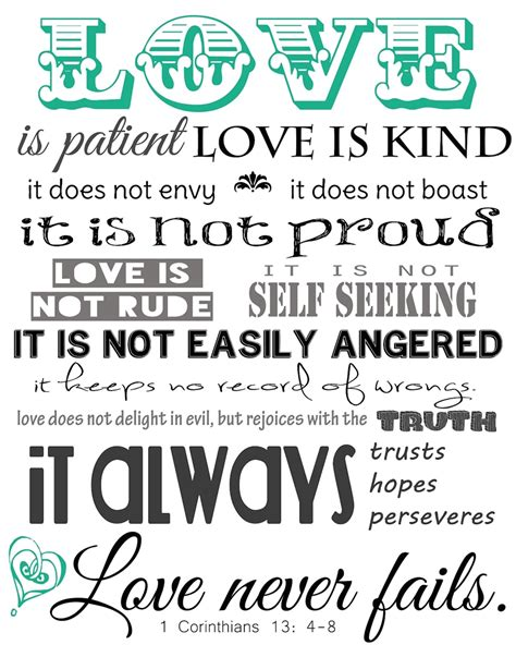 printable version of love is patient bible verses about kindness 1 corinthians 13 4 hd