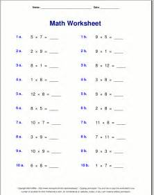 6 7 8 9 multiplication worksheets davezan