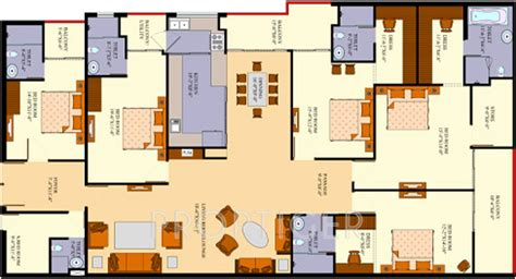 3000 Sq Ft Apartment Floor Plan | 3000 sq ft 5 bhk 5t apartment for sale in agi infra