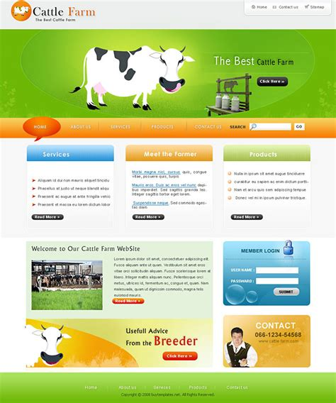 templates for agriculture website affordable agricultural templates