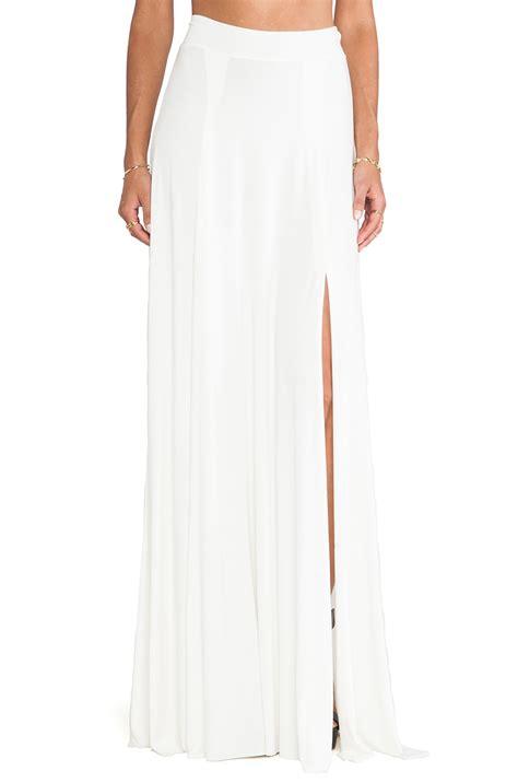 pally x revolve josefine maxi skirt in white lyst