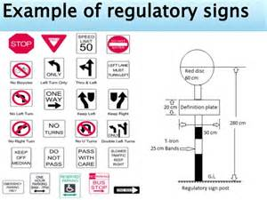 what color are regulatory signs traffic signs