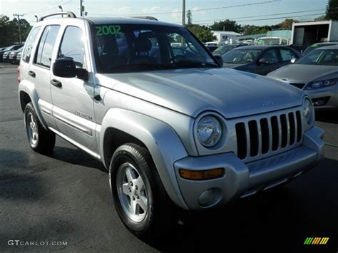 silver jeep liberty 2002 bright silver metallic jeep liberty limited 61530099