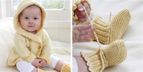 free knitting pattern for baby hooded jacket buttercup knitted hooded baby jacket and booties free