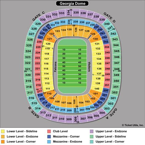atlanta falcons seating chart prices dome seating chart rows dome atlanta