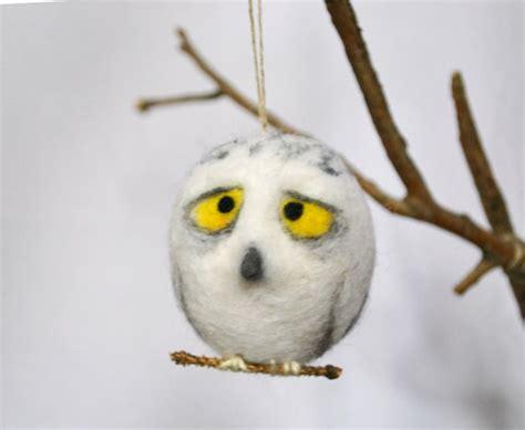 owl ornament wool needle felt by gladoart