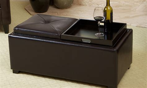 ottoman tray topper great modern ottoman with tray top for residence decor