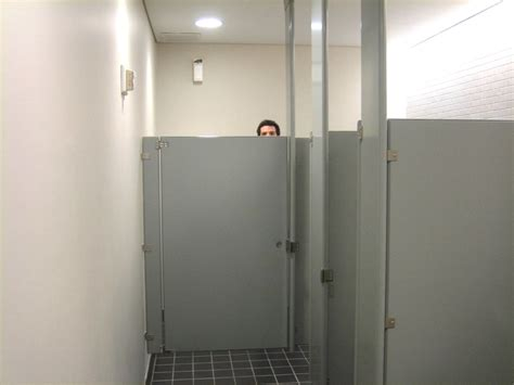 to remove bathroom stall doors