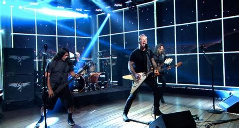 metallica hit the lights lyrics watch metallica rock the late late show with hit the