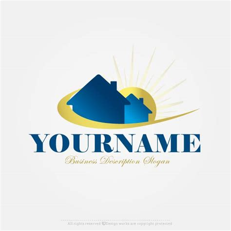house logo design free online free logo maker sun house logo design