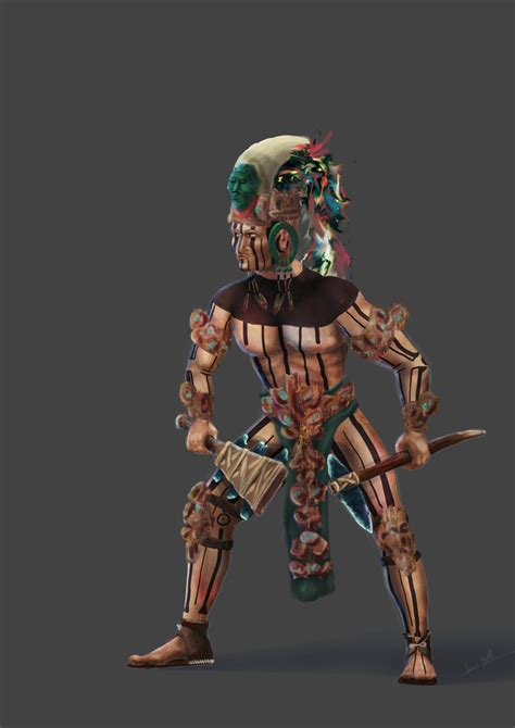 mayan warrior 002 concept by centificgrafics on deviantart