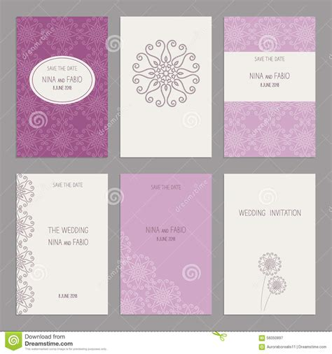 model set card templates set of of vintage cards templates editable stock vector