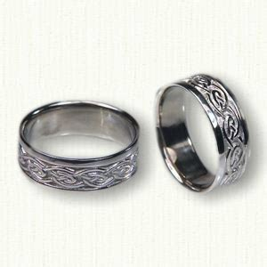 Wedding Bands Galway by Celtic Galway Wave Knot Wedding Rings By Designet Best