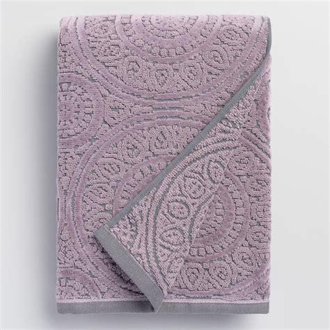lavender bath towels gray and lavender eloise sculpted bath towel world market
