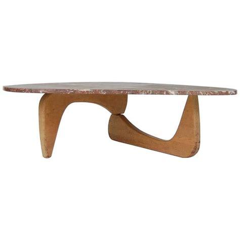 isamu noguchi style coffee table with rojo alicante marble