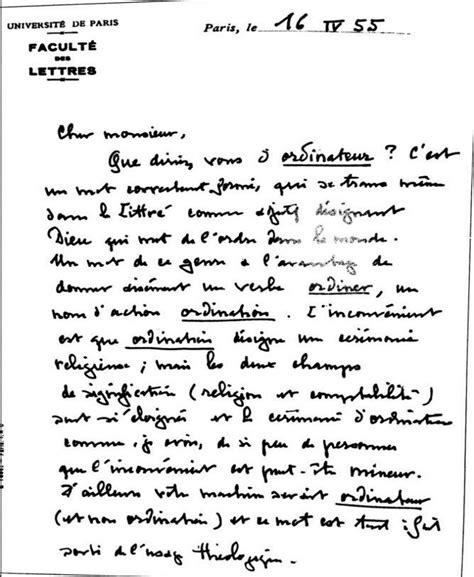 Présentation Lettre De Motivation Ordinateur La Histoire Derri 232 Re Le Mot Quot Ordinateur Quot