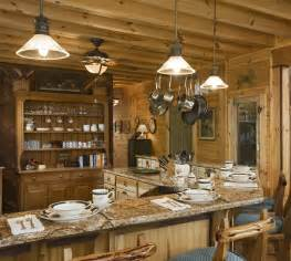 Log Home Lighting Design Rustic Kitchen Lighting Decor With Wooden Material 4822