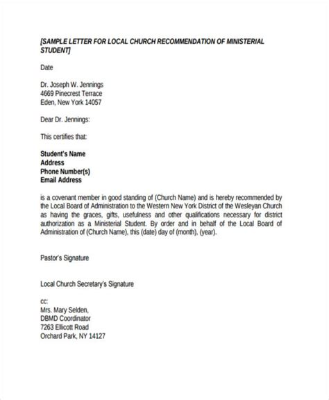 Character Reference Letter Ministry exle of a testimonial letter from church cover letter