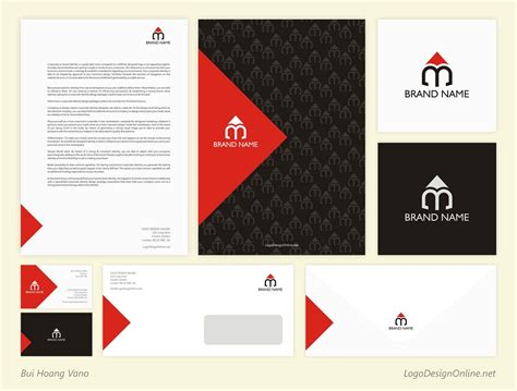 Brand Identity Pack Templates Free Brand Identity Design M Pencil Logo Brand Identity Brand Identity Template
