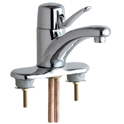 chicago faucets 4 in centerset 1 handle low arc bathroom