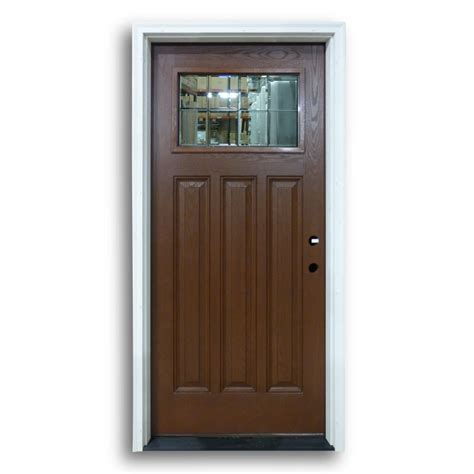 Home Surplus by Prehung Mahogany Fiberglass Clear Bevelled Glass Home