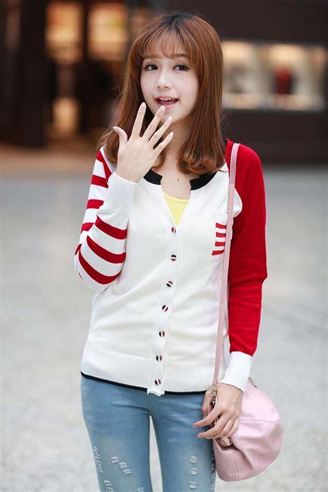 Roundhand Maroon Murah jual baju rajut ala korea sweater jacket